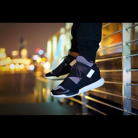 Details about New Adidas Y 3 Qasa High Black Triple Black Size 8.5